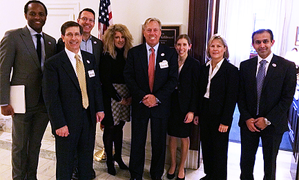 NASP President Burt Zweigenhaft, BS, Chief Operating Officer Robert A. Fulcher, CAE and other members of the NASP Board met with dozens of key Congressional offices, including senior staff members from Senator Kristen Gillibrand's (D-NY) office during the recent Capitol Hill Fly-in Day event.